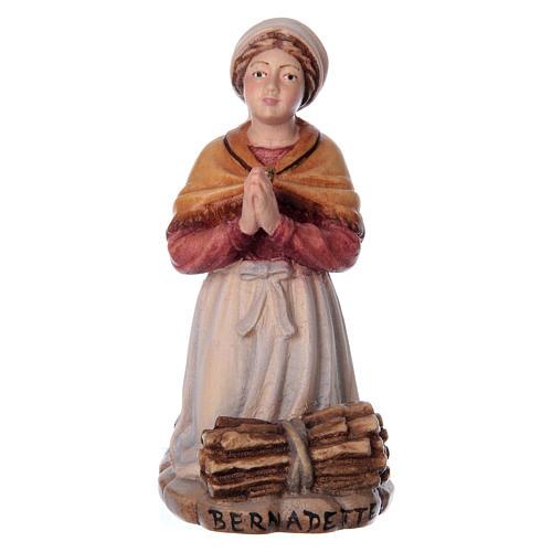 Bernadette Soubirous in painted wood of Valgardena 1