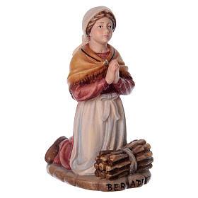 Bernadette Soubirous legno Valgardena dipinta s3