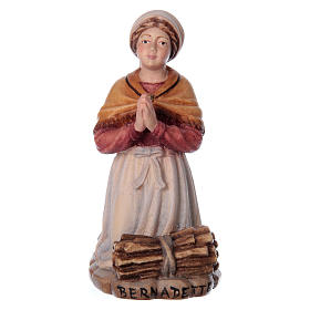 Hand painted wooden statues: Bernadette Soubirous in painted wood of Valgardena