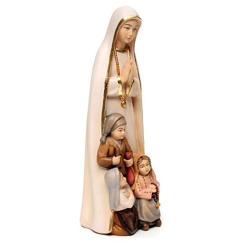 Our Lady of Fatima stylized in natural wood of Valgardena 3