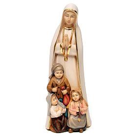 Imágenes de Madera Pintada: Virgen de Fátima estilizada madera Val Gardena pintada
