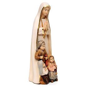 Madonna di Fatima stilizzata legno Valgardena dipinta s3