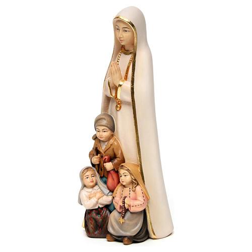 Madonna di Fatima stilizzata legno Valgardena dipinta 2