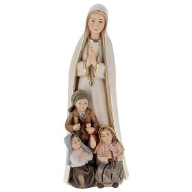 Our Lady of Fatima stylized in natural wood of Valgardena s1