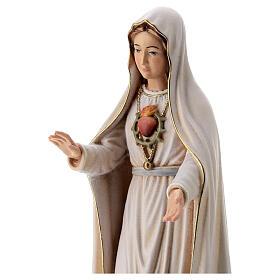 Virgen de Fátima 5. Aparición madera Val Gardena pintada s2