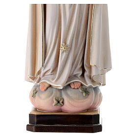 Virgen de Fátima 5. Aparición madera Val Gardena pintada s6