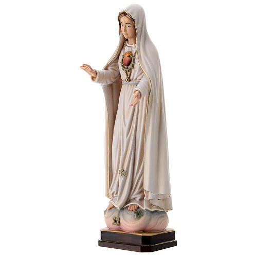 Virgen de Fátima 5. Aparición madera Val Gardena pintada 3