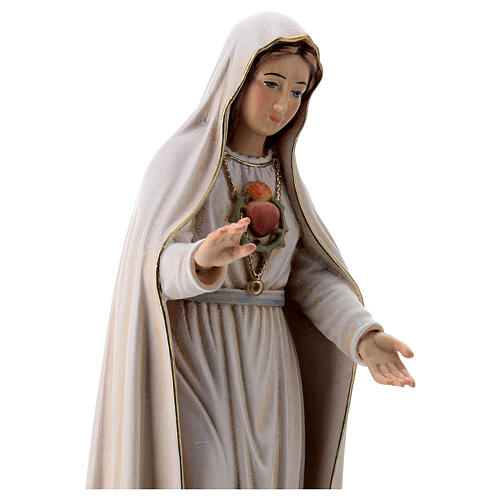Virgen de Fátima 5. Aparición madera Val Gardena pintada 5