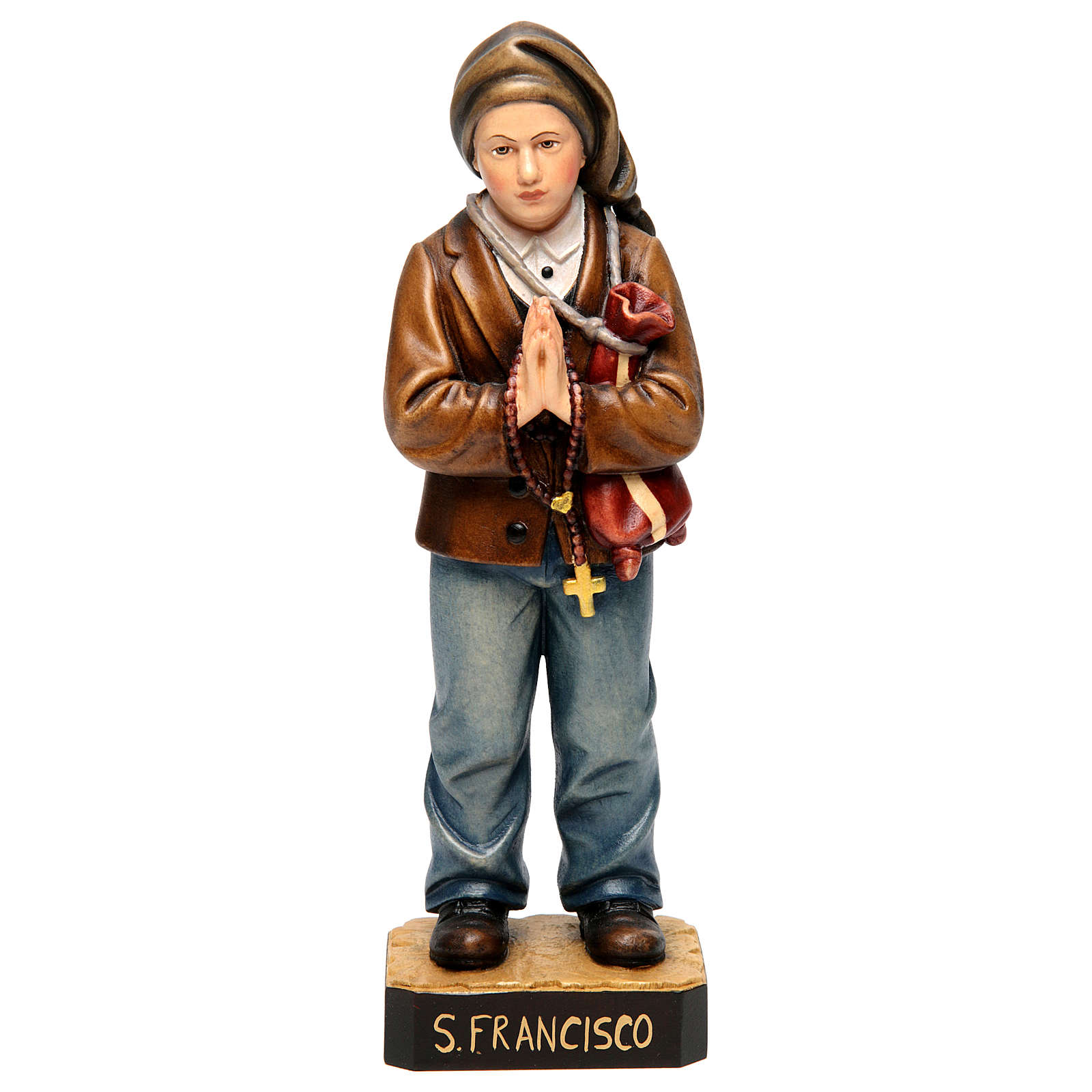 Shepherd Francisco Marto in painted wood of Valgardena 4