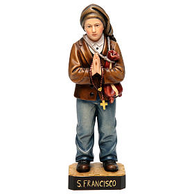 Hand painted wooden statues: Shepherd Francisco Marto in painted wood of Valgardena