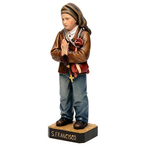 Shepherd Francisco Marto in painted wood of Valgardena 3