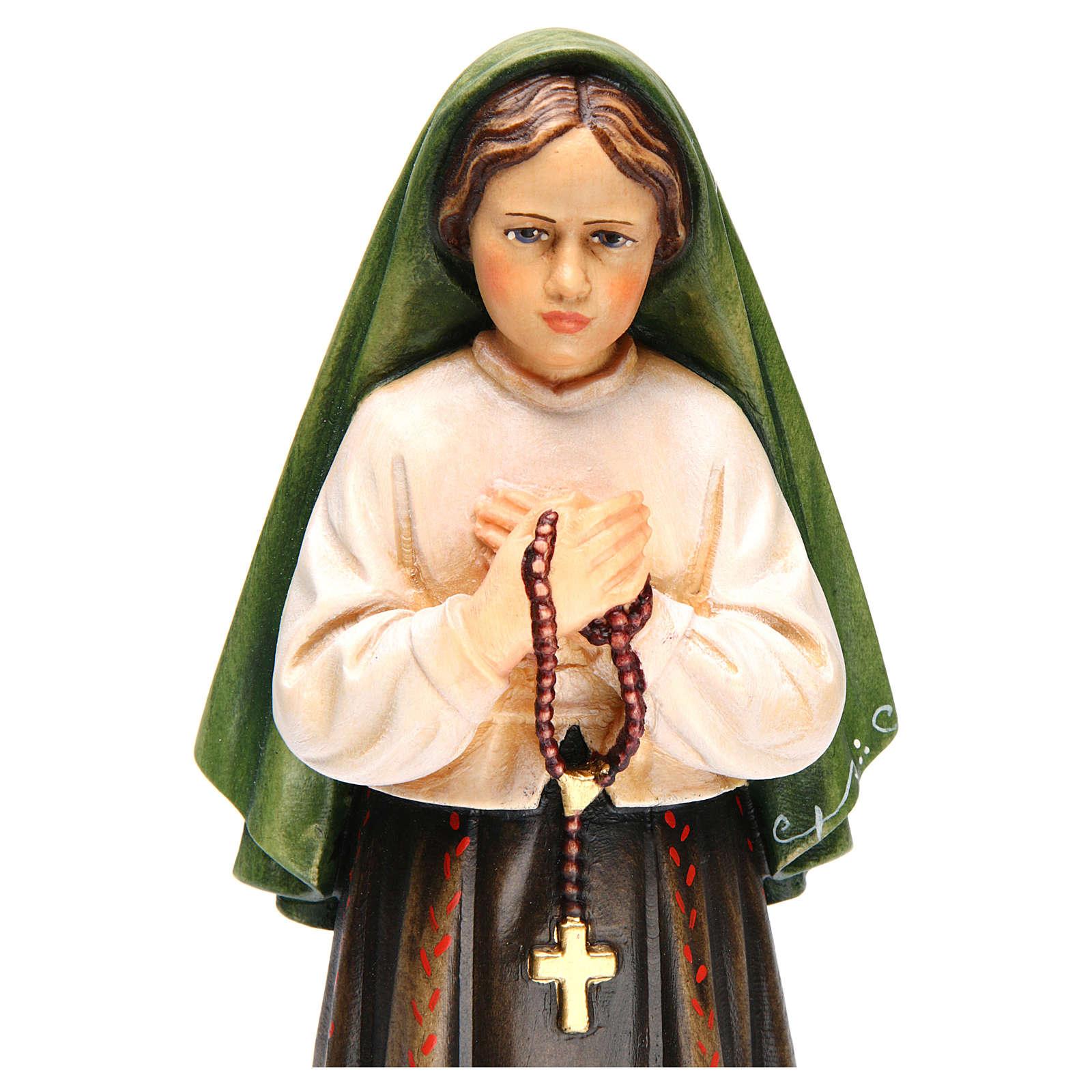 Shepherdess Jacinta in painted wood of Valgardena 4