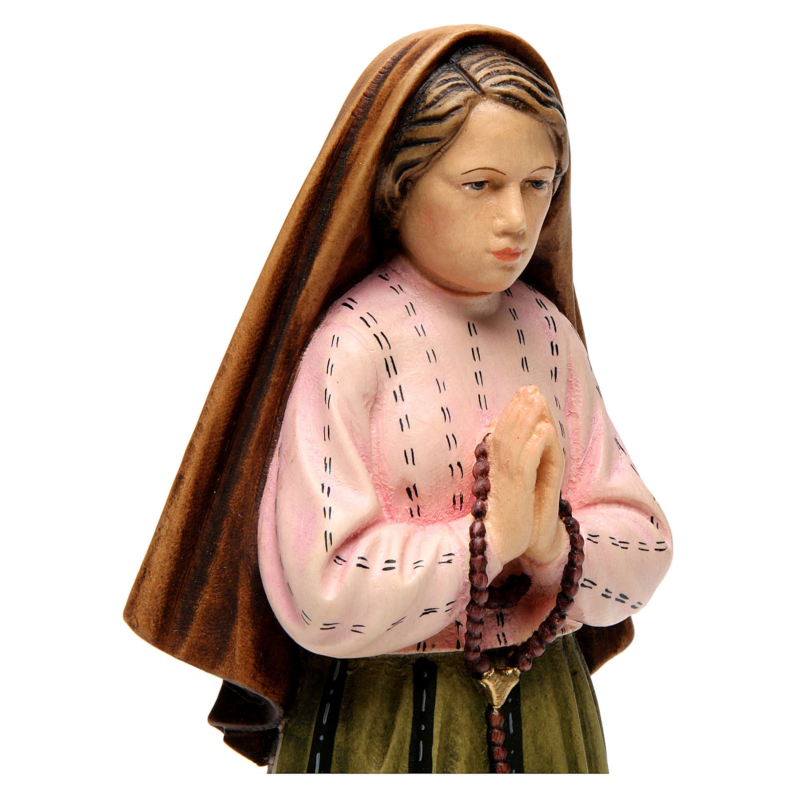 Shepherdess Lucia in painted wood of Valgardena 4