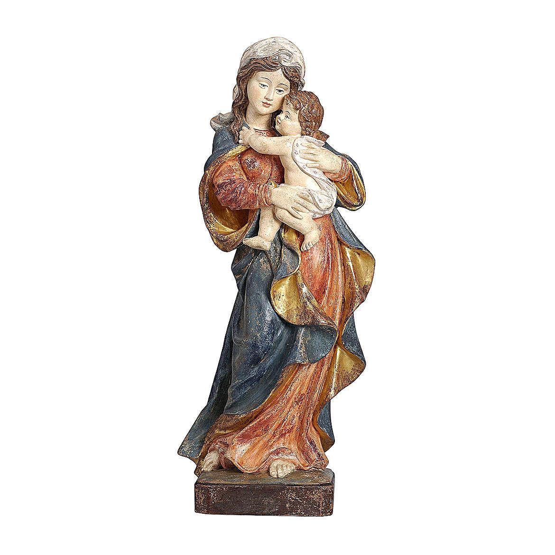 Madonna Alpbach legno Valgardena oro zecchino antico 4