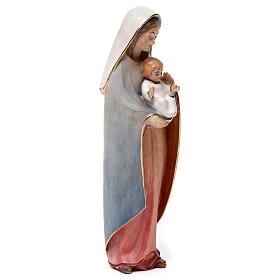 Madonna del cuore legno Valgardena colori ad acqua s4