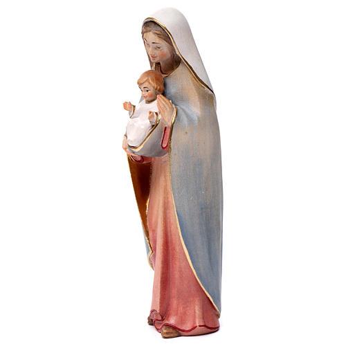 Madonna del cuore legno Valgardena colori ad acqua 3