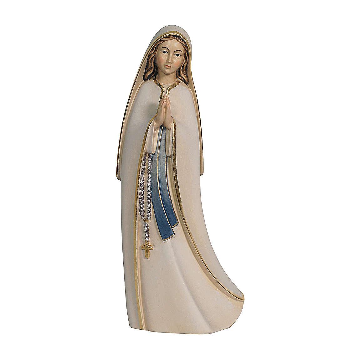 Madonna del Santuario legno Valgardena dipinta 4