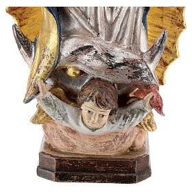 Virgen de Guadalupe madera Val Gardena oro antiguo capa silver s4