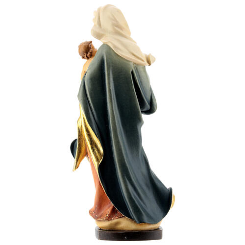 Our Lady with child hand painted wood statua Valgardena 5