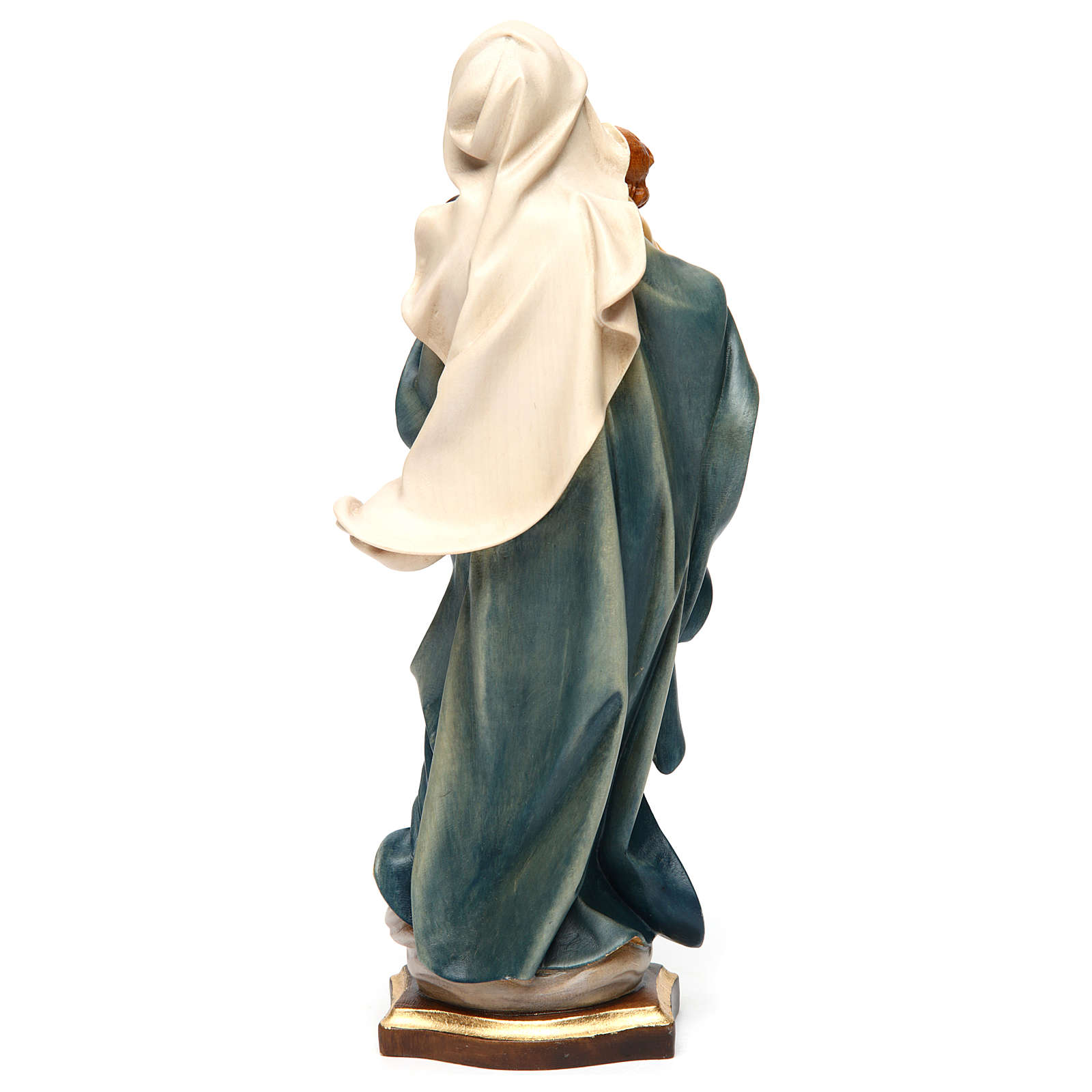 Our Lady of the Alps statue in painted wood, Val Gardena 4