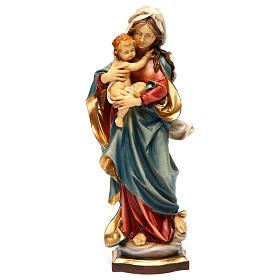 Imágenes de Madera Pintada: Estatua Virgen de las Alpes madera pintada Val Gardena