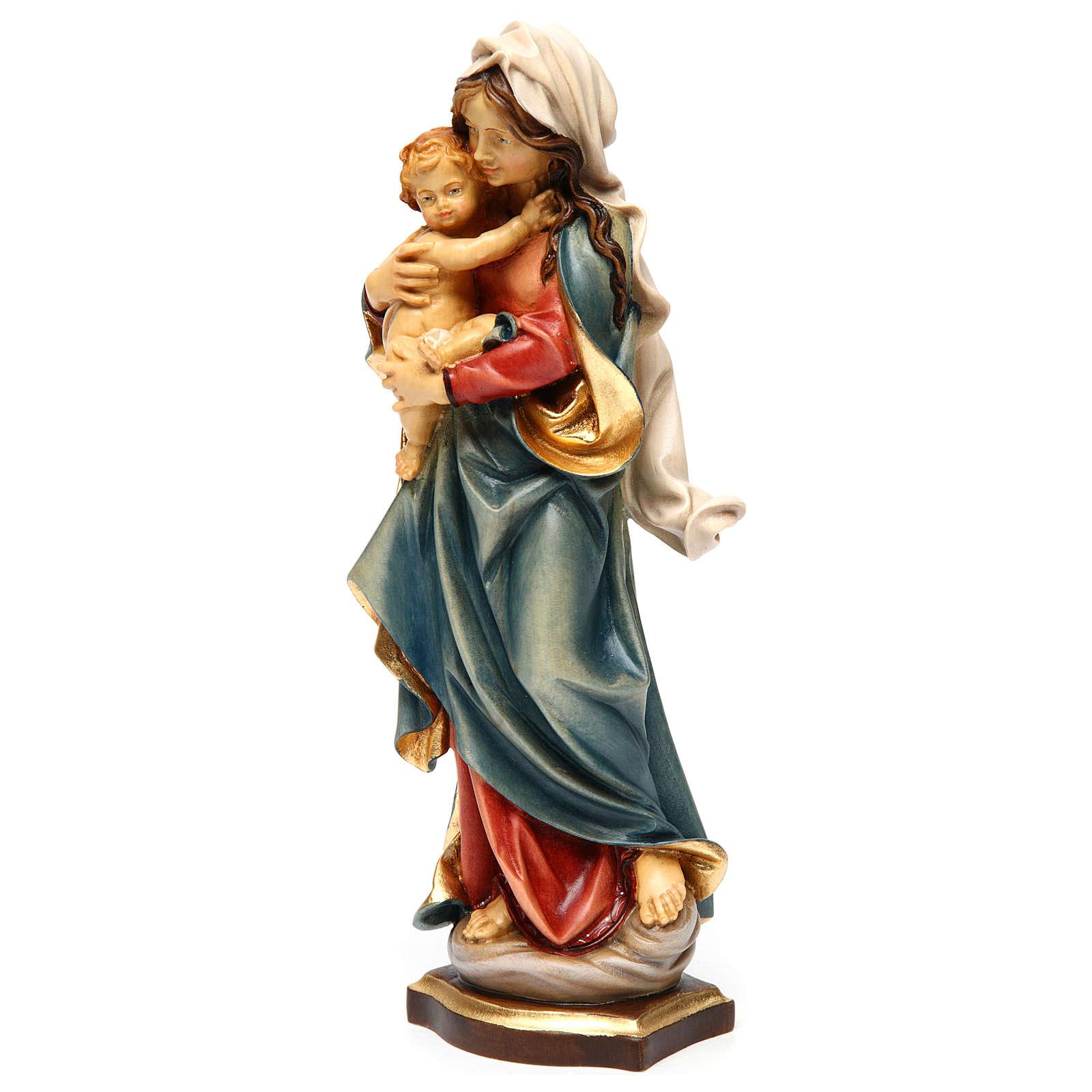 Statua Madonna delle Alpi legno dipinto Val Gardena 4