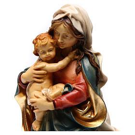 Statua Madonna delle Alpi legno dipinto Val Gardena s2