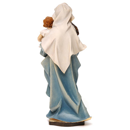 Virgin Mary with child hand painted wood statue Valgardena 5