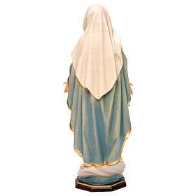 Estatua Virgen Milagrosa madera pintada Val Gardena s5