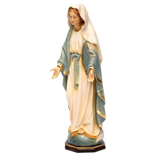 Estatua Virgen Milagrosa madera pintada Val Gardena 3