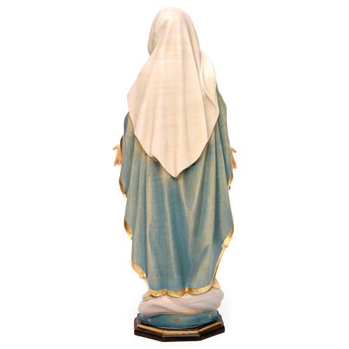 Estatua Virgen Milagrosa madera pintada Val Gardena 5