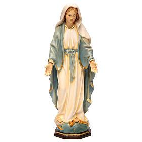 Statues en bois peint: Statue Vierge Miraculeuse bois peint Val Gardena