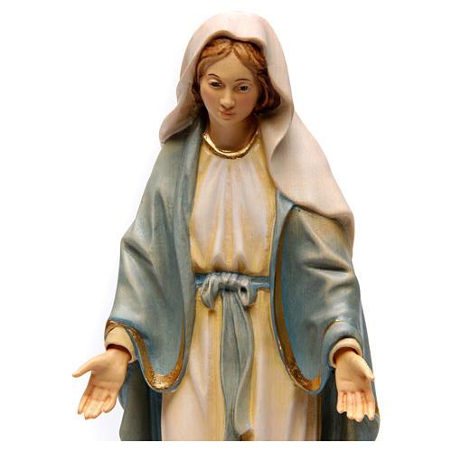 Statua Madonna Miracolosa legno dipinto Val Gardena 2
