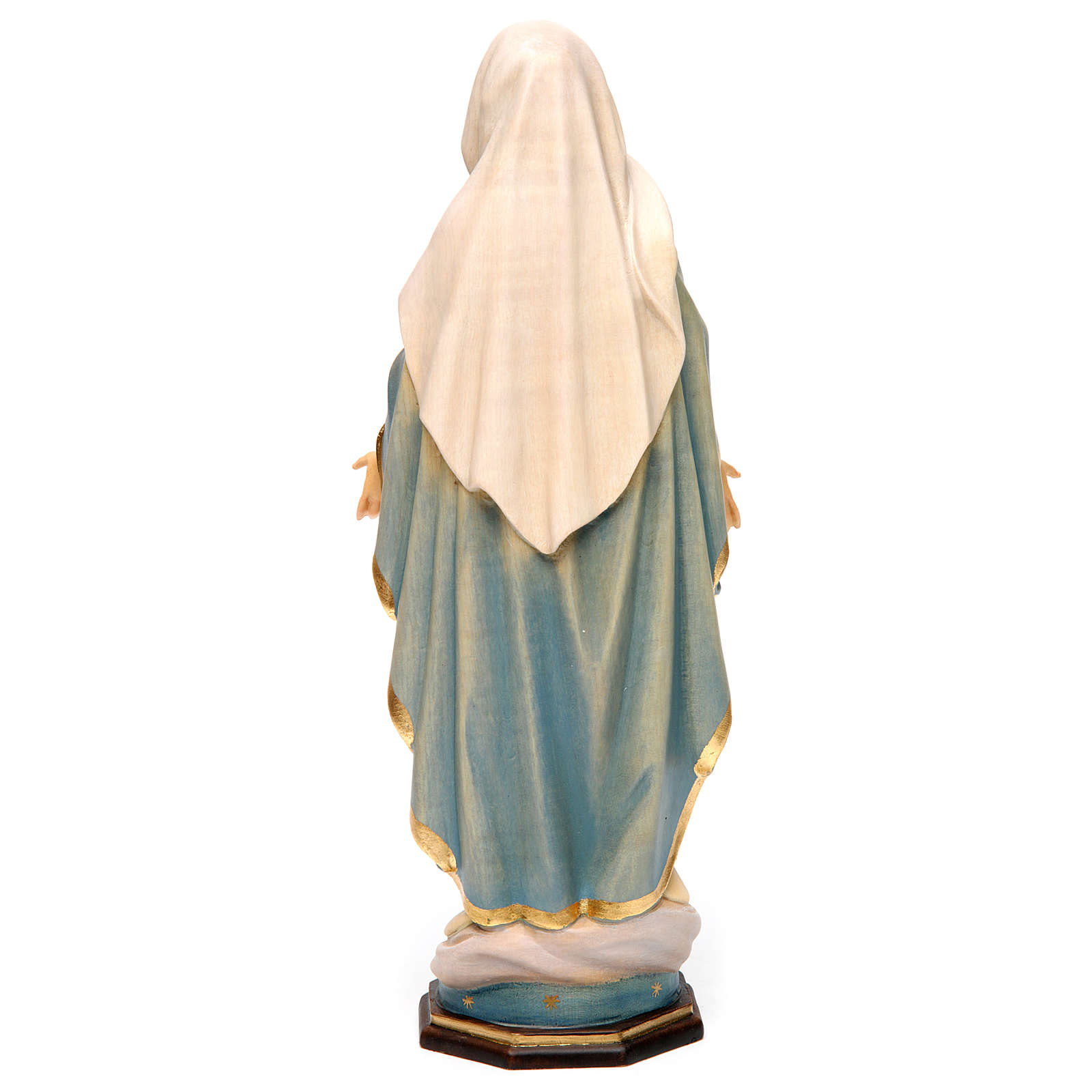 Our Lady of Grace painted Valgardena wood statue various sizes 4