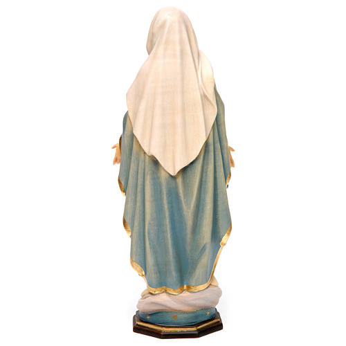 Our Lady of Grace painted Valgardena wood statue various sizes 5