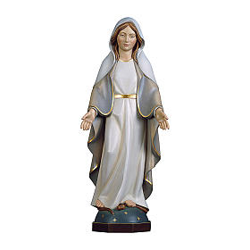 Miraculous Medal Madonna statue in painted wood, Val Gardena s1