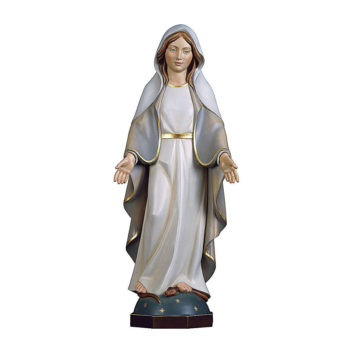 Statua Madonna Miracolosa Moderna legno dipinto Val Gardena 4