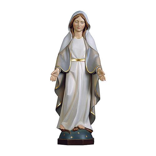 Statua Madonna Miracolosa Moderna legno dipinto Val Gardena 1