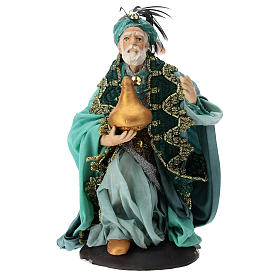 Immaculate Mary baroque style statue in painted wood, Val Gardena s4