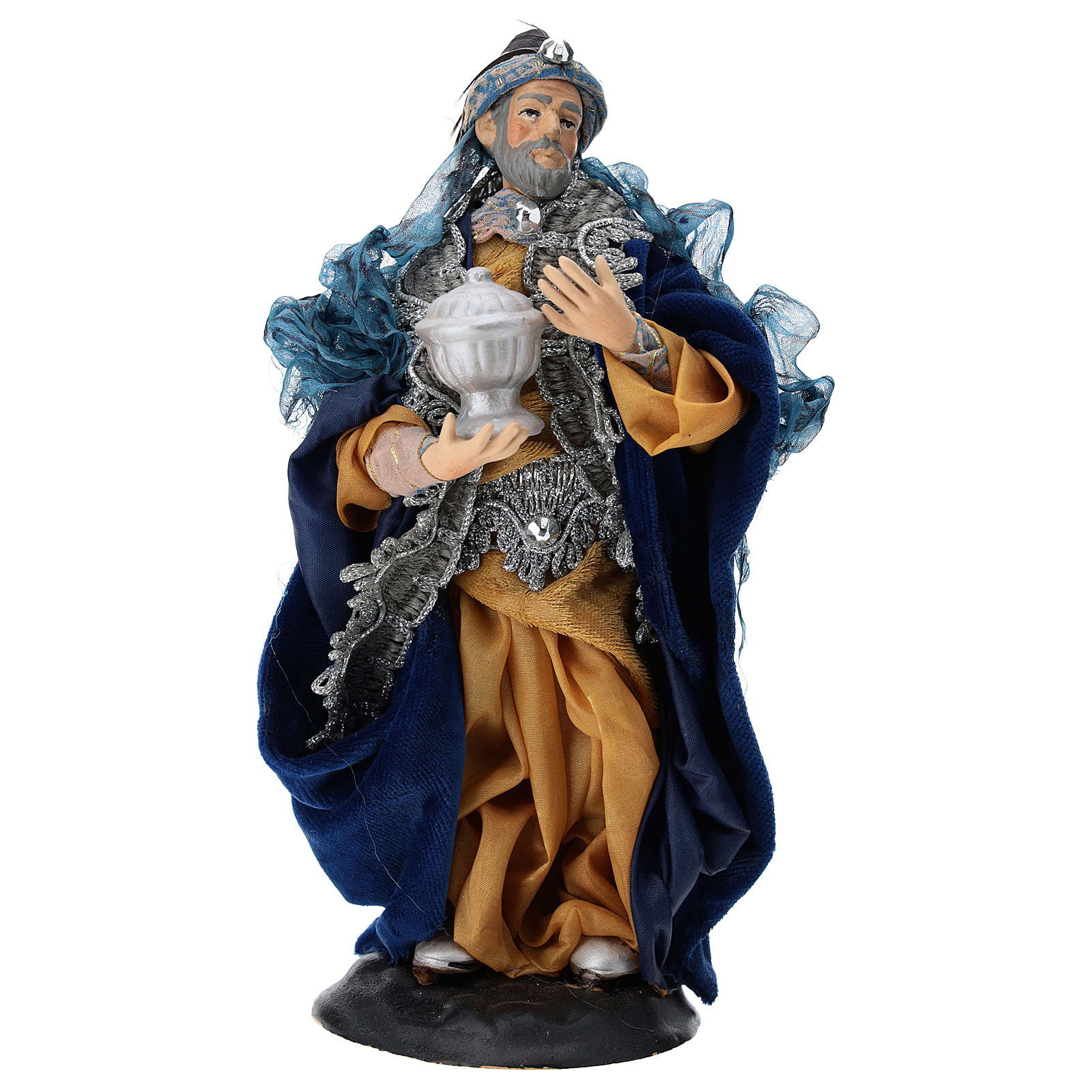 Our Lady of Grace painted wood statue baroque style 4