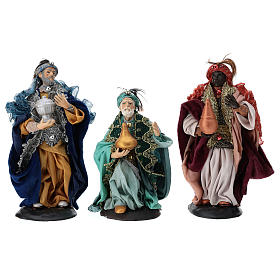 Hand painted wooden statues: Our Lady of Grace painted wood statue baroque style