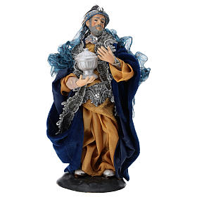 Our Lady of Grace painted wood statue baroque style s2