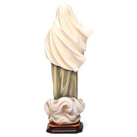 Statue Notre-Dame de Medjugorje bois peint Val Gardena s5