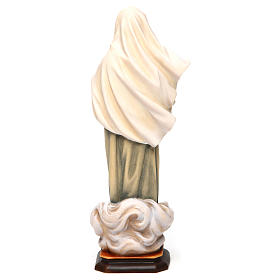 Statua Madonna di Medjugorje legno dipinto Val Gardena s5