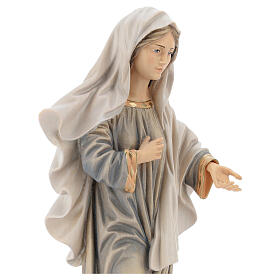 Kraljica Mira Statue with church painted wood Val Gardena s2
