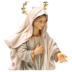 Madonna Medjugorje Statue with halo wood painted Val Gardena s2
