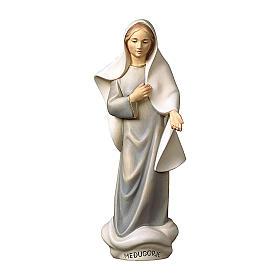 Statue Notre-Dame de Medjugorje moderne bois peint Val Gardena s1
