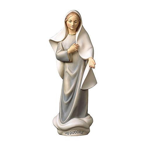 Statue Notre-Dame de Medjugorje moderne bois peint Val Gardena 1