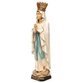 Statua Madonna di Lourdes con corona legno dipinto Val Gardena s3