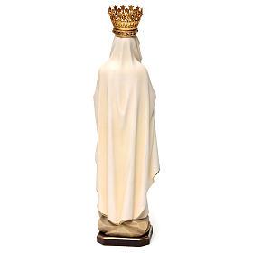 Statua Madonna di Lourdes con corona legno dipinto Val Gardena s5
